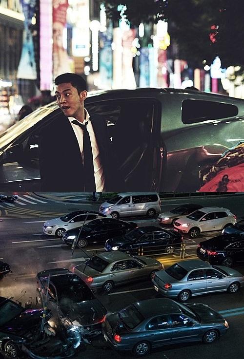 영화 '베테랑' 차량 추격신/사진=CJ E&M