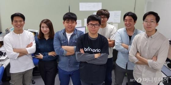 브링프라이스 팀, 왼쪽에서 세 번째 원용연 대표/사진=허정민 인턴기자