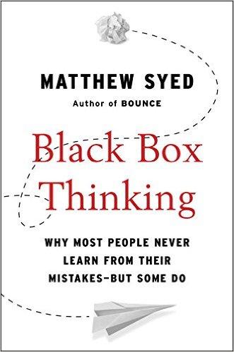'블랙박스 사고'(Black Box Thinking) 표지./사진=아마존 캡처