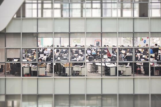 750명의 에스티앤컴퍼니 직원들이 서울 강남구 오토웨이타워 3~4층에서 근무하고 있다. /사진제공=에스티앤컴퍼니