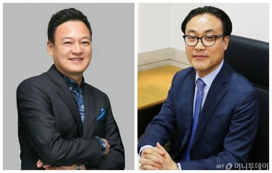 (왼쪽부터)양창수 토니모리 사장과 윤영로 토니모리 부사장/사진제공=토니모리