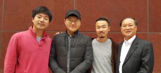 김민영 대표(왼쪽부터) 이승우, 이성명 공동대표 김삼문 멘토/사진=허정민 인턴기자