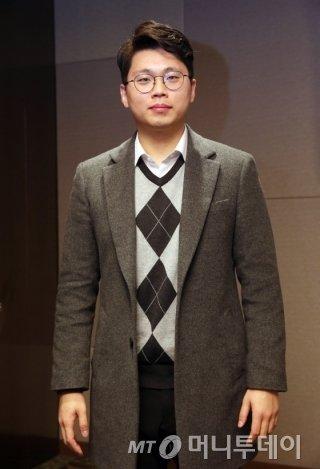 '2015 대한민국모바일어워드'에서 스타트업 우수상을 수상한 조정호 벤디스 대표/사진=임성균 기자