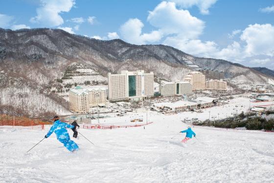홍천 비발디파크 스키월드가 이번주 27일 국내 스키장 가운데 첫 개장 계획을 25일 밝혔다/사진제공=대명리조트