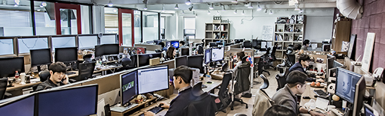 강남구 삼성동 상화기획 본사에서 직원들이 일하는 모습./사진제공=상화기획