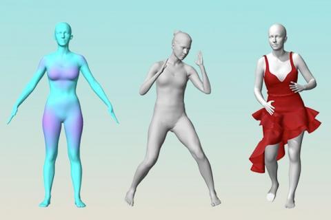 보디 랩스의 3D 스캐닝 기술로 가상현실화한 신체 사이즈. 디자이너는 화면을 보고 맞춤형 의류를 제작할 수 있다. 패션계에 큰 변화가 예고되고 있다./사진=Body Labs<br>
