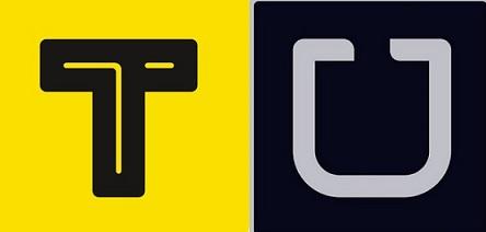 카카오택시 로고 vs 우버택시 로고