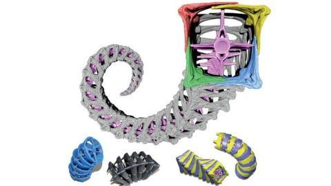 동물 대부분의 꼬리는 원추형인데 비해 해마의 꼬리부분은 정사각형으로 돼 있다. 물건을 쥐거나 잡는 힘이 강하면서 뱀의 꼬리처럼 부드럽다. 과학자들은 이러한 원리를 의료 및 제조산업 분야에 적용할 수 있을 것으로 믿고 있다. 사진은 3D 프린터를 이용해 해마 꼬리를 해부한 모습/사진=오리건주립대학<br>