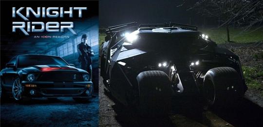 (왼쪽부터)'전격Z작전-나이트라이더' 포스터, 배트맨카/사진=워너브라더스
