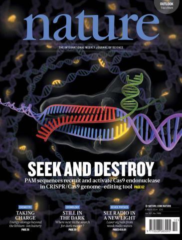 2015년 한해 동안 GMO, 맞춤아기, 기상이변 원인 등의 과학기술 이슈를 놓고 격렬한 논쟁이 이어졌다. 사진은 유전자가위 기술은 크리스퍼(CRISPR) 관련 특집기사를 게재하고 있는 네이처 지 표지.