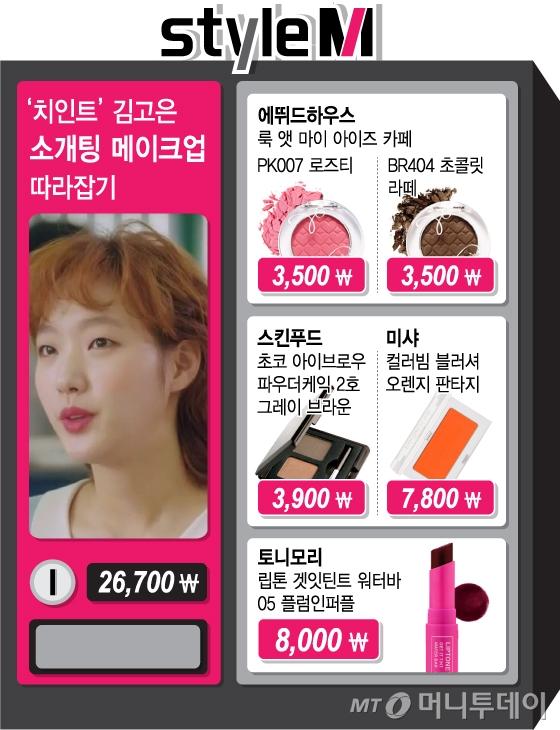 /사진=tvN '치즈인더트랩' 방송화면, 스킨푸드, 에뛰드하우스, 미샤, 토니모리 /그래픽=김지영 디자이너
