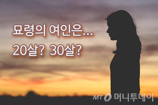 '묘령의 여인'은 몇 살일까?