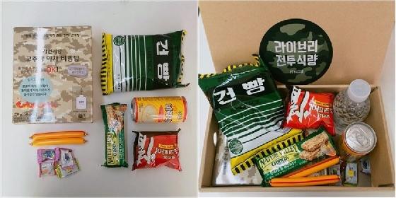 지난해 추석 명절 선물로 시지온이 준비한 '전투식량 세트'/사진=시지온 제공