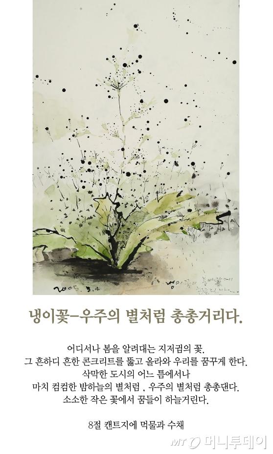 [김혜주의 그림 보따리 풀기]꽃에서 꿈들이 하늘거린다