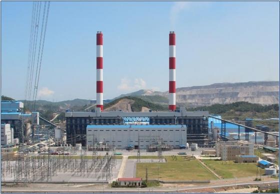 베트남 북부 꽝닌성 깜빠시에 위치한 '몽정1 석탄화력발전소' 전경 / 사진제공 = 현대건설