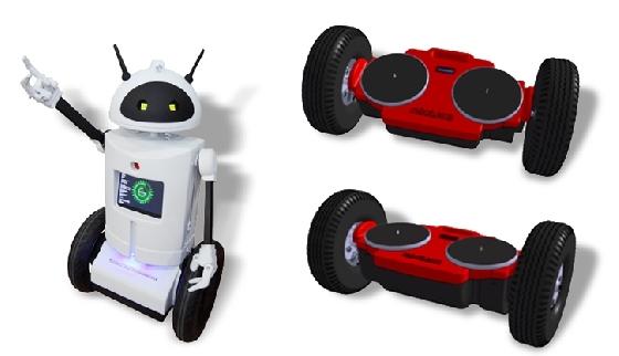 서비스로봇 '로비'(왼쪽)와 1인승 PM로봇 트위스터