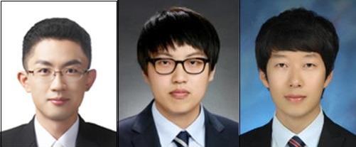 왼쪽부터 강래형 지도교수, 황문영·한대현 연구원