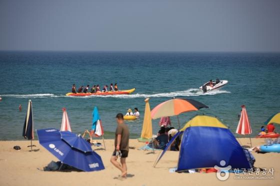 강원 동해시에 위치한 망상해수욕장. 이 곳은 캠핑족들에게 해변 캠핑 장소로 인기가 좋다. /사진제공=한국관광공사