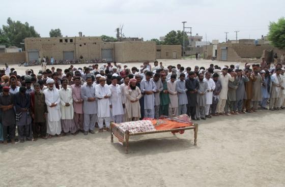 콴딜 발로흐의 장례식./AFPBBNews=뉴스1