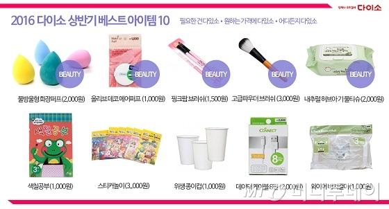 다이소, 종이컵·화장퍼프 상반기 베스트 10 선정