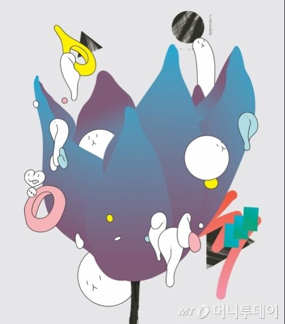 장진우의 '꽃', 2016, 디지털프린트, 42 x 37  cm.