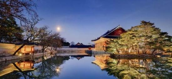 경복궁 경회루의 야간 풍경. /사진제공=문화재청