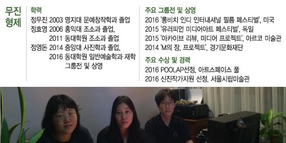 사진 왼쪽부터 정무진, 정효영, 정영돈. /사진제공=무진형제