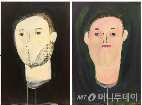 현대미술가 고등어의 아크릴화인 '얼굴들'. /사진제공=고등어