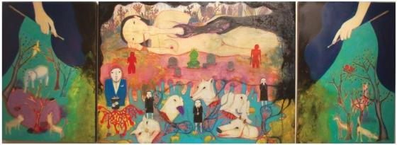현대미술가 고등어의 '올랭피아의 구토'. /사진제공=고등어