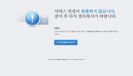 손연재 선수 소속사 갤럭시아SM 홈페이지가 접속자 폭주로 다운됐다./자료= 홈페이지 캡처