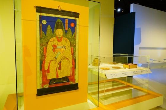 노란색(黃) 전시실에서 만나볼 수 있는 황룡포를 입은 고종황제의 어진. /사진=김유진 기자