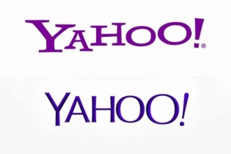 야후 과거 로고(위)와 새 로고. /사진=야후 웹사이트