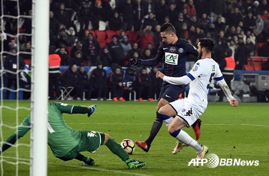 'PSG 이적' 드락슬러, 데뷔전서 득점…팀은 7-0 대승