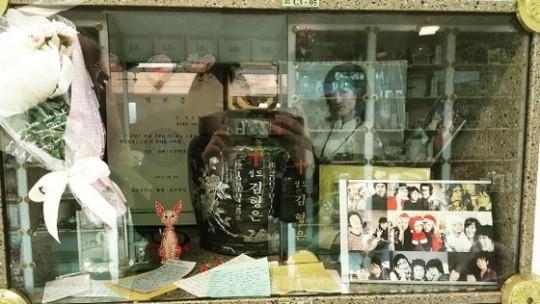 10일 故김형은의 10주기를 맞아 개그우먼 심진화가 납골당에 방문했다. /사진=심진화 인스타그램 캡처