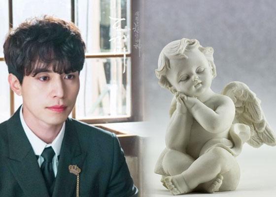 드라마 '도깨비'에서 저승사자로 나오는 이동욱(왼쪽)과 천사 조각상. /사진제공=tvN홈페이지, pixabay