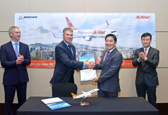 제주항공, 보잉사와 항공기 3대 구매계약 체결