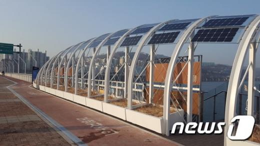 서울 광진교에 '아치형 태양광 발전설비' 설치