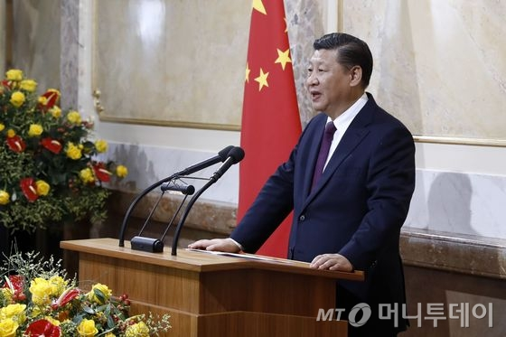 """시진핑 """"보호무역주의 반대, 세계경제 갈 길은 하나"""""""
