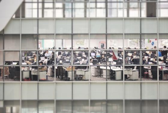 서울 강남구 대치동 에스티유니타스 본사에서 임직원들이 업무에 매진하고 있다. / 사진제공=에스티유니타스