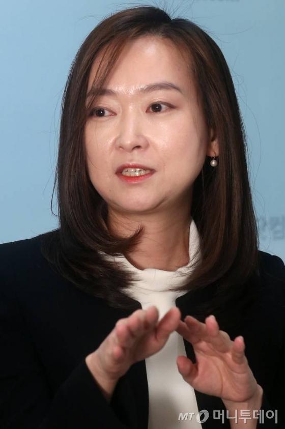 국내 비트코인 거래소 '빗썸'을 운영하는 비티씨코리아닷컴의 이정아 이사/사진=홍봉진 기자