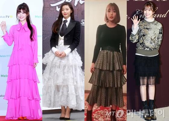왼쪽부터 김유정, 전지현, 홍진영, 한효주 /사진=머니투데이DB, 홍진영 인스타그램