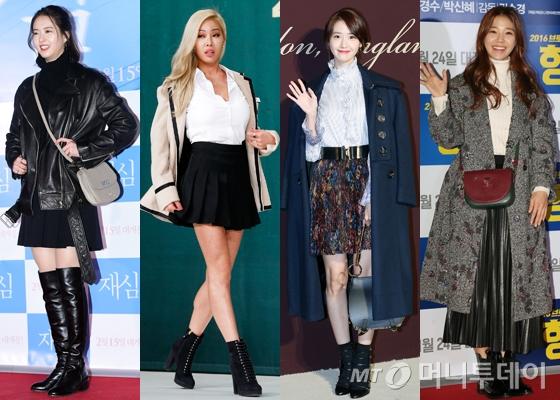 왼쪽부터 고아라, 제시, 소녀시대 윤아, 임세미 /사진=머니투데이DB