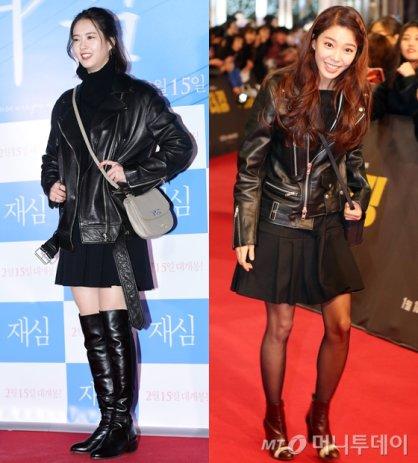고아라 vs 임세미, '블랙 레더 재킷' 패션…승자는?