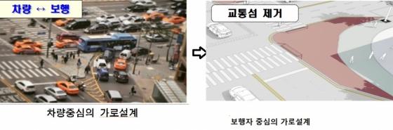 [단독]교통사고 주범 교차로 '교통섬' 없앤다