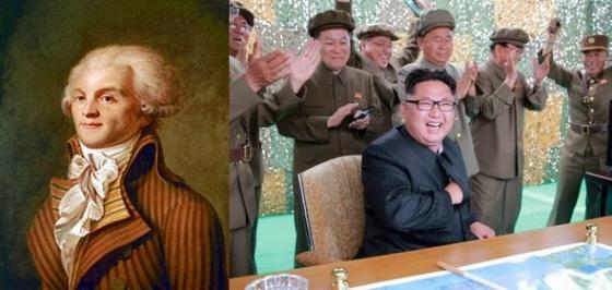 공포통치를 시행한 '로베스피에르'와 '김정은'/사진=위키피디아, 뉴스1