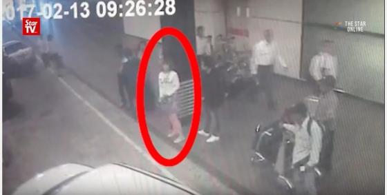김정남 살해 여성 용의자/사진=말레이시아 현지언론 더스타 TV 보도
