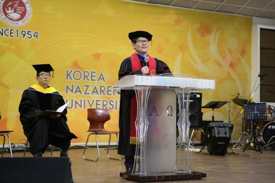 축사하는 나사렛대 임승안 총장