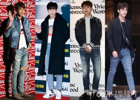 왼쪽부터 배우 김영광, B1A4 진영, 하이라이트 윤두준, 제국의 아이들 박형식 /사진=머니투데이DB