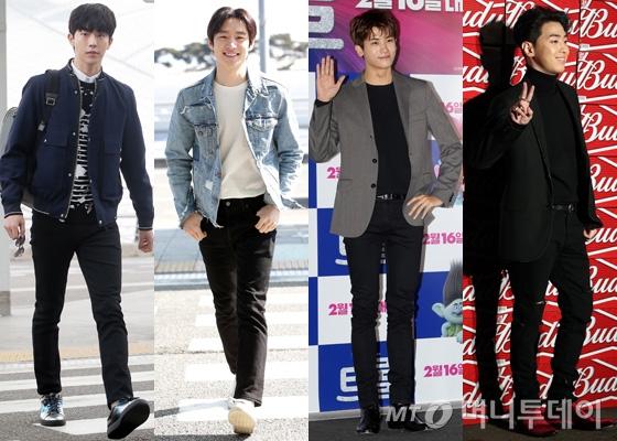 왼쪽부터 배우 남주혁, 이제훈, 제국의 아이들 박형식, 가수 겸 프로듀서 그레이 /사진=머니투데이DB