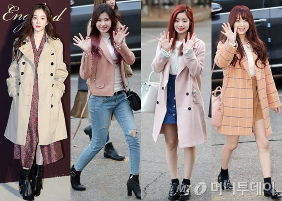 왼쪽부터 배우 정려원, 트와이스 사나, 다현, 러블리즈 케이 /사진=머니투데이DB